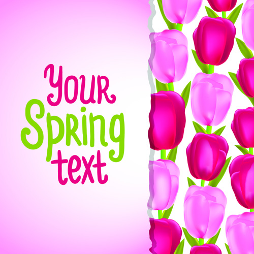 Funny Floral vector background 03