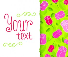 Funny Floral vector background 04