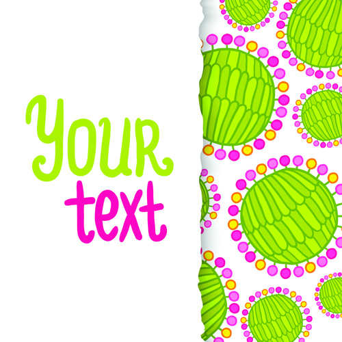Funny Floral vector background 05