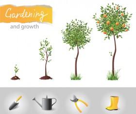 Garden elements vector 04