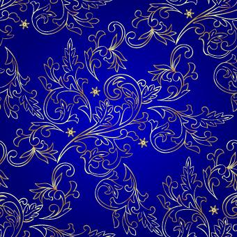 Vintage Gold Floral Ornaments 01