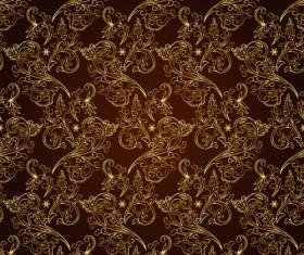 Vintage Gold Floral ornaments 02