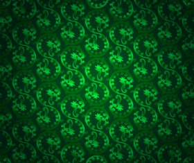 Vector Green seamless pattern background 01