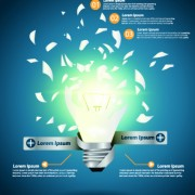 Link toIdea infographics with bulb vector graphic 02