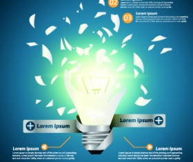 Idea infographics with Bulb vector graphic 02