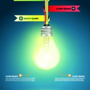 Link toIdea infographics with bulb vector graphic 05
