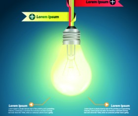 Idea infographics with Bulb vector graphic 05