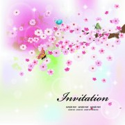Link toInvitation cards with flowers design vector 02