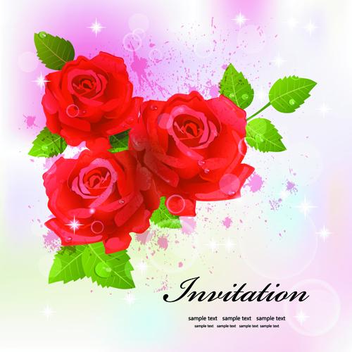Flower Designs For Cards Flowers Design Vector 03