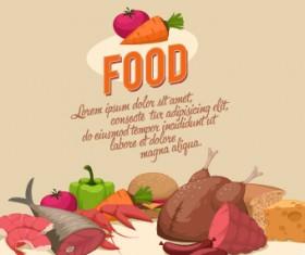 Vintage food Logo vector 02
