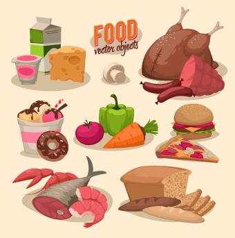 Vintage food Logo vector 03 free download  Retro Clip Art Food
