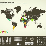 Link toWorld map with infographic vector 05