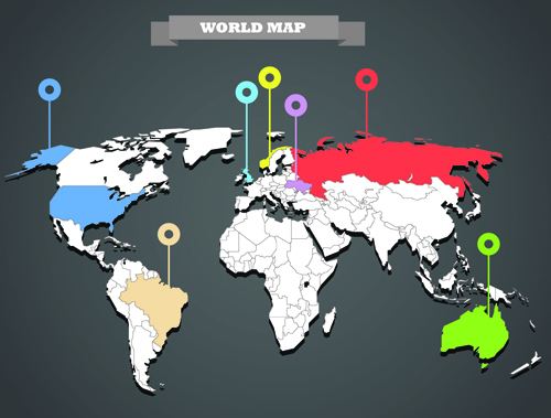 World map with infographic vector 06 vector business vector world map with infographic vector 06 gumiabroncs Choice Image