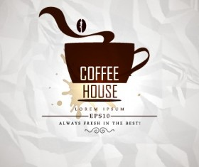 Coffee house menu cover vector 02