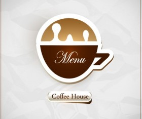 Coffee house menu cover vector 04