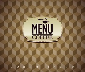 Coffee house menu cover vector 05