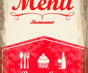 Vintage menu covers vector 01