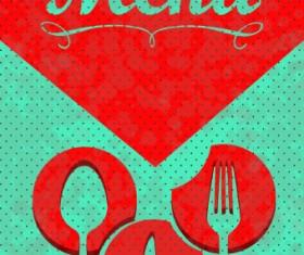 Vintage menu covers vector 03