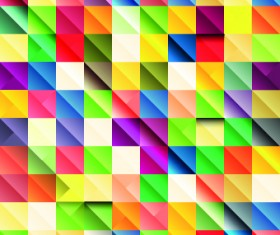 Multicolored Mosaics squares backgrounds 01
