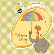 Link toNew baby card vector 03