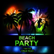 Link toBeach party backgrounds vector 02
