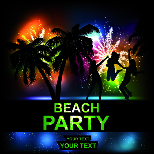 beach party backgrounds vector 02 vector background free