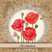Link toRed flower invitations cards 04