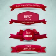 Link toBest quality labels with ribbons vector 01