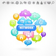 Link toSocial icons and speech bubbles vector 03