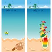 Link toSummer beach scenery vector 01