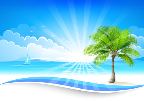 Summer Sea Background Art 06 – Over Millions Vectors, Stock Photos