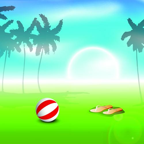 Vector Summer Background Art 05