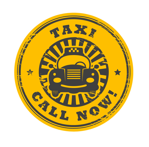 Set Of Taxi Labels Vector 01 Free Download