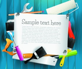 Message Board and Carpentry Tools Backgrounds 01