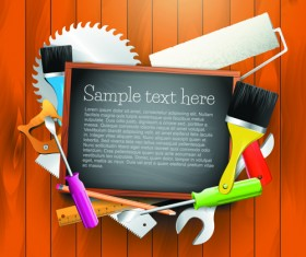 Message Board and Carpentry Tools Backgrounds 04
