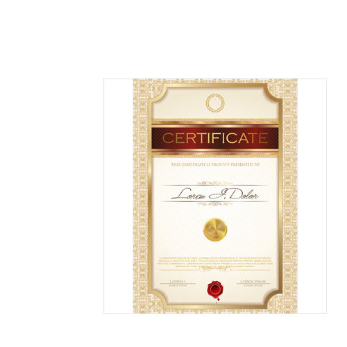 Vector certificate template 01 vector cover free download vector certificate template 01 yadclub
