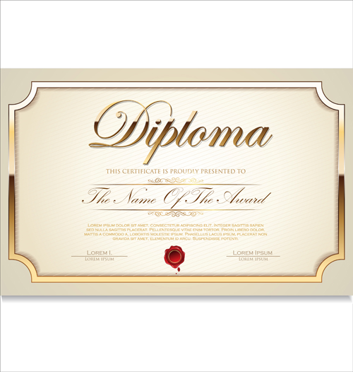 Vector certificate template 02 vector cover free download vector certificate template 02 yadclub Image collections