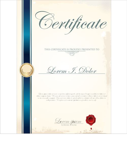 Vector Certificate Template 03 Free Download