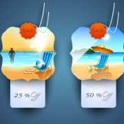 Link toVector summer labels set 02