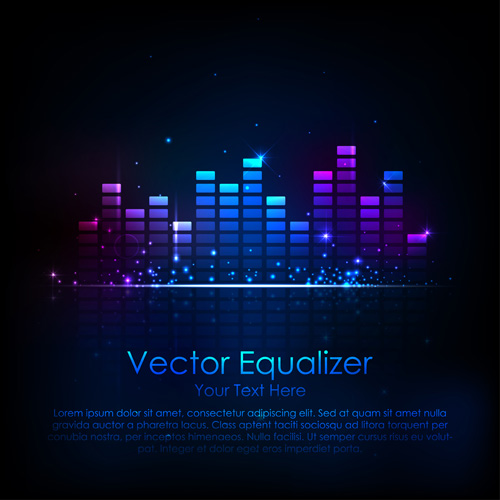 Vector music background 01