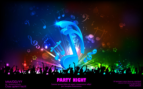 Posted in vector background vector music