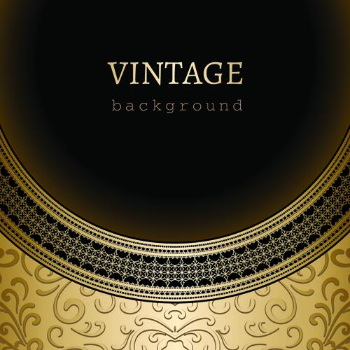 Vintage Golden Backgrounds vector 03 - Vector Background free download