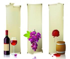 Wine Bottles and Wineglass vector set 04