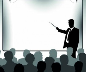 business presentation vector Silhouettes 01