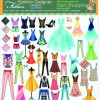 Fashion elements and clothing vector 04