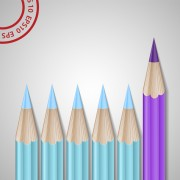 Link toDifferent colored pencil vector set 03