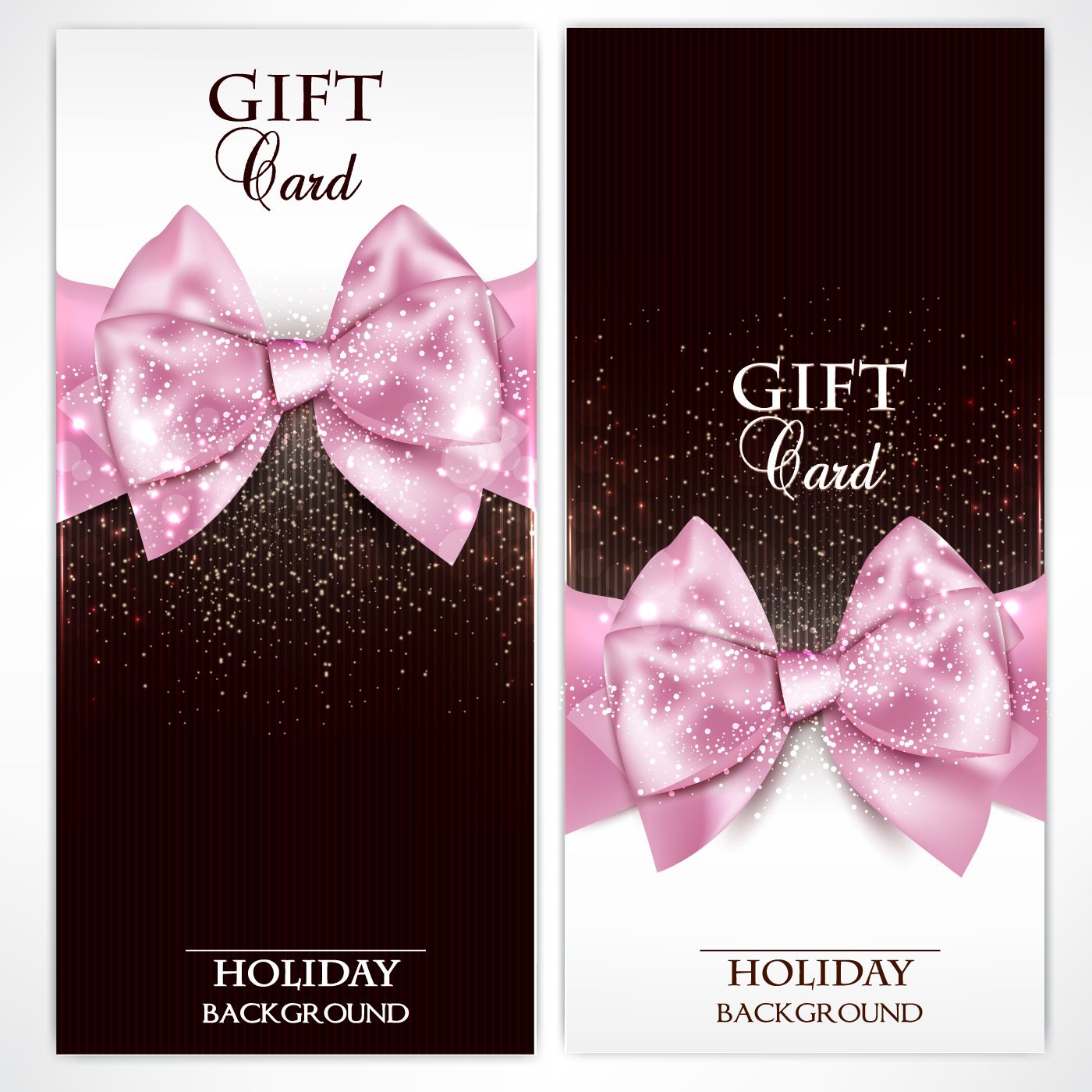 shiny holiday gift cards vector vector card shiny holiday gift cards vector 01