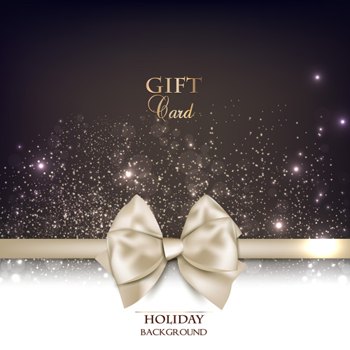 Shiny Holiday Gift Cards vector 04