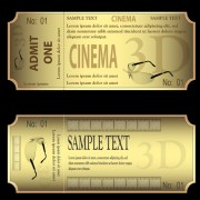 Link toVector gold ticket design elements 02