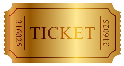 Vector Gold ticket design elements 03 free download